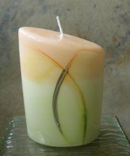 Edles Design Kerze gelb gr�n Tischdeko festliche Tischkerze Kerzen f�r Feste Konfirmation Kommunion Hochzeit Geburtstag Advent Weihnachten: Küche & Haushalt