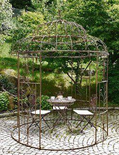 """XXL Pavillon """"Avis"""" Pergola Laube Eisen rostoptik rund: Garten"""