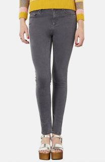 Topshop Moto Jamie High Rise Skinny Jeans (Grey) (Regular & Short)