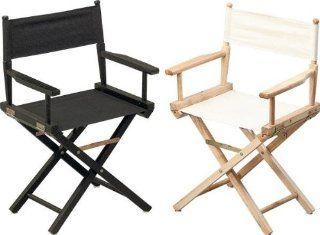 1St. Regiestuhl aus Holz, schwarz Baumarkt