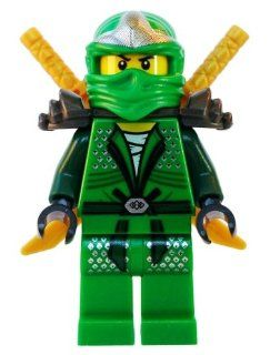 Lloyd ZX (Green Ninja) with Dual Gold Swords   LEGO Ninjago Minifigure: Spielzeug
