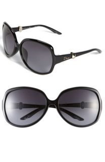 Christian Dior Special Fit 60mm Oversized Crystal Temple Sunglasses