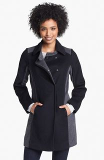 Kristen Blake Two Tone Wool Blend Walking Coat ( Exclusive)