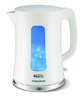 Morphy Richards Accents 43965 Wasserkocher mit Brita Filtersystem, in Wei� Morphy Richards: Küche & Haushalt
