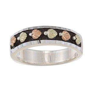 Black Hills Gold and Silver Ladies Wedding Band Black Hills Gold Black Hills Gold Rings