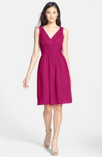 Donna Morgan Jessie Twist Silk Chiffon Dress