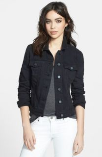 Paige Denim Vermont Distressed Denim Jacket (Vintage Black)