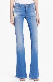 Alice + Olivia Stacy Distressed Bell Bottom Jeans