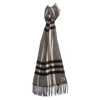 Burberry Charcoal Check Cashmere Scarf Burberry Designer Scarves & Wraps