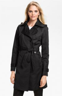 Ellen Tracy Water Repellent Trench Coat (Online Only)