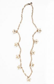 Tory Burch Emma Long Faux Pearl Station Necklace