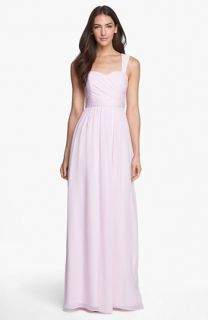 Donna Morgan Bailey Shirred Chiffon Gown