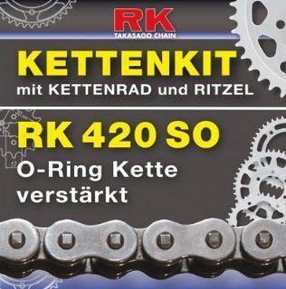 Kettenkit Kettensatz Honda AFS 110 Wave 12 13 RK 420SO 104, offen, 15/37: Motorrad