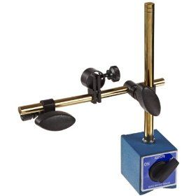 Fowler 52 585 185 Tin Coated Magnetic Base with Fine Adjustment, 180lbs Pulling Power: Industrial & Scientific