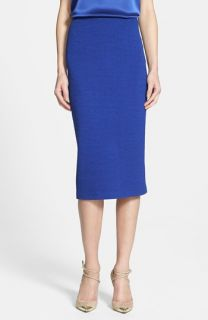 St. John Collection Box Knit Long Midi Skirt