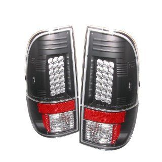 Ford F250/350/450/550 Super Duty 2008 2009 LED Tail Lights   Black: Automotive
