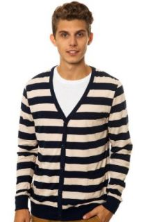 191 Unlimited Men's Bazooka Cardigan Medium Blue: Clothing