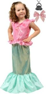 Magical Mermaid Dress up Costume MEDIUM (3 5): Clothing