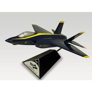 Lockheed Martin F 35C Joint Strike Fighter (JSF) Blue Angels Handcrafted Quality Desktop Aircraft Model Display / US Navy Stealth Multirole Fighter Aircraft / Unique and Perfect Collectible Gift Idea / Aviation Historical Replica Gift Toy: Toys & Games