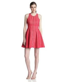 BCBGMAXAZRIA Women's Guilanna Eyelet Fit and Flare Dress at  Women�s Clothing store
