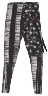 Abbey Dawn White Flag Leggings Junior XLarge: Clothing