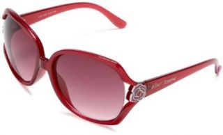 Betsey Johnson Women's 197 Resin Sunglasses,Rose Frame/ Lens,one size: Clothing