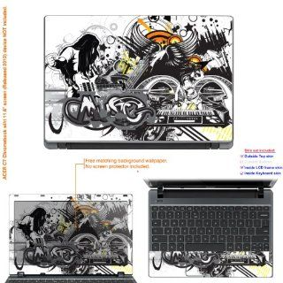 "Decalrus   Decal Skin Sticker for Acer Chromebook C7 with 11.6"" screen (IMPORTANT read: Compare your laptop to IDENTIFY image on this listing for correct model) case cover acerC7 197: Computers & Accessories"
