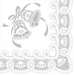 Silver Lace Wedding Beverage Napkins, 2 Ply   192 per case: Health & Personal Care