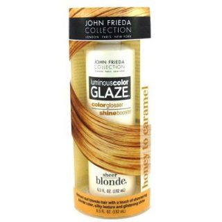 John Frieda Sheer Blonde Luminous Color Glaze, Honey to Caramel 6.5 oz (192 ml): Beauty
