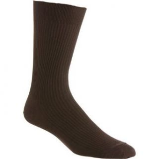 Sock Co. 100% Cotton Non Binding Dress Sock: Clothing