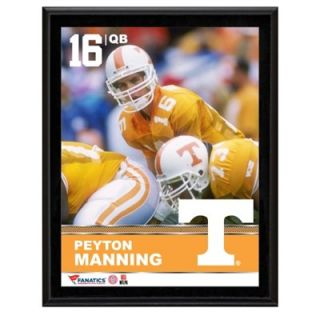 Peyton Manning Tennessee Volunteers Sublimated 10.5 x 13 Plaque