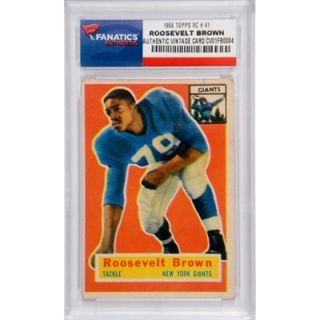 Roosevelt Brown New York Giants 1956 Topps #41 Rookie Card