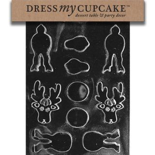 Dress My Cupcake DMCC195SET Chocolate Candy Mold, Stack Reindeer, Set of 6: Kitchen & Dining