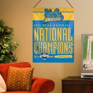 UCLA Bruins 2013 NCAA Mens College World Series Champions 27 x 37 Vertical Banner Flag