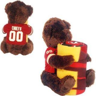 Northwest Kansas City Chiefs 40 x 50 Fleece Blanket with Bear