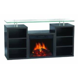 Sylvania SBM205L 50EDW Electric Fireplace Heater 1250 Watt with 50 Inch Mantel Ideal for Flat Screen TV, Dark Walnut: Home Improvement