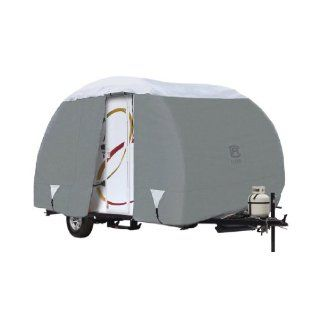 "Classic Accessories 80 199 151001 00 Overdrive PolyPro III Deluxe Teardrop R Pod Travel Trailer Cover, Fits Up To 18' 8"" Trailers Automotive"