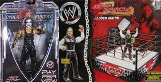 JEFF HARDY PAY PER VIEW 20/SPRING RING PACKAGE DEAL WWE TOY WRESTLING ACTION FIGURES: Toys & Games