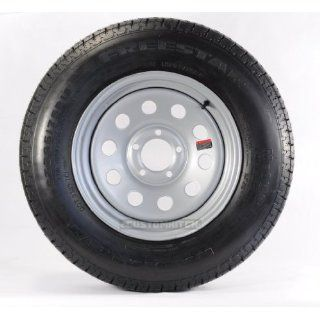 "eCustomRim Radial Trailer Tire + Rim ST205/75R14 205/75 14 14"" 5 Lug Wheel Galvanized Spoke: Automotive"