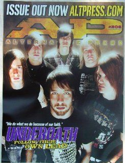 UNDEROATH   Alternative Press #206   Poster   September 2005   They're Only Chasing Safety   New   Rare   Spencer Chamberlain   Timothy McTague   Christopher Dudley   James Smith   Grant Brandell   Aaron Gillespie   Artwork