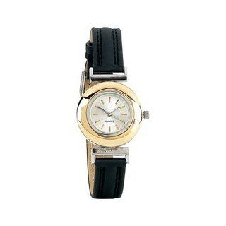 Navarre Ladies Quartz Watch Japan Quartz Movement Black Band Gold Tone Ring Around Face: Home & Kitchen