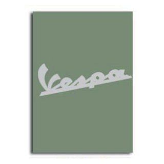 Notebook, Vespa Logo   Green, 6x8: Automotive