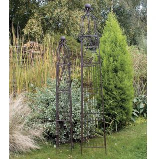 improvements fleur de lis 7 39 garden obelisk. Black Bedroom Furniture Sets. Home Design Ideas