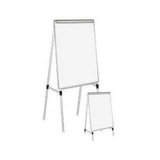 Mastervision(Tm) Easy Clean(Tm) Dry Erase Easel, 27In. X 35In.  Combination Presentation And Display Boards