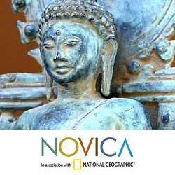 Bronze 'Buddha Teacher of The World' Sculpture (Indonesia) Novica Statues & Sculptures