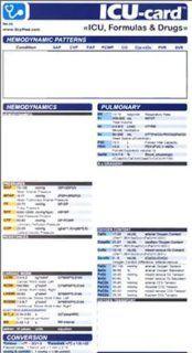 ICU  card ICU, Formulas & Drugs (9780972305822) Arturo A. Rodriguez Books