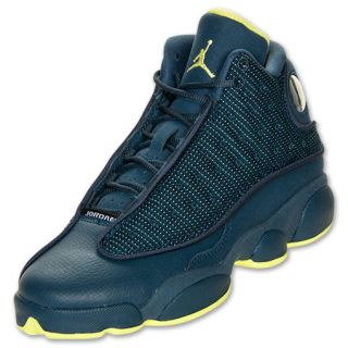 Boys' Grade School Air Jordan Retro 13 Basketball Shoes  Squadron Blue/Electric Yellow/Black