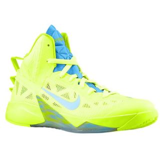 Nike Zoom Hyperfuse 2013   Mens   Basketball   Shoes   Volt/Bright Crimson/Vivid Blue