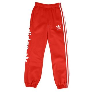 adidas Originals Fleece Track Pants   Boys Grade School   Casual   Clothing   Light Scarlet/White