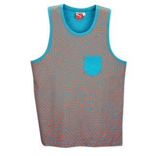 PUMA Geo Maze Tank   Mens   Casual   Clothing   Bluebird Heather